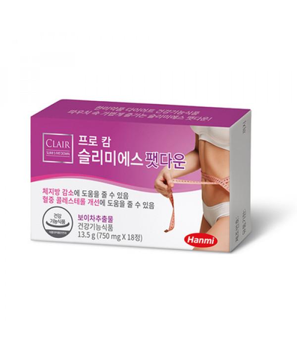 [HANMI] Pro Calm Slimi S Fat Down - 1pack (18pcs)
