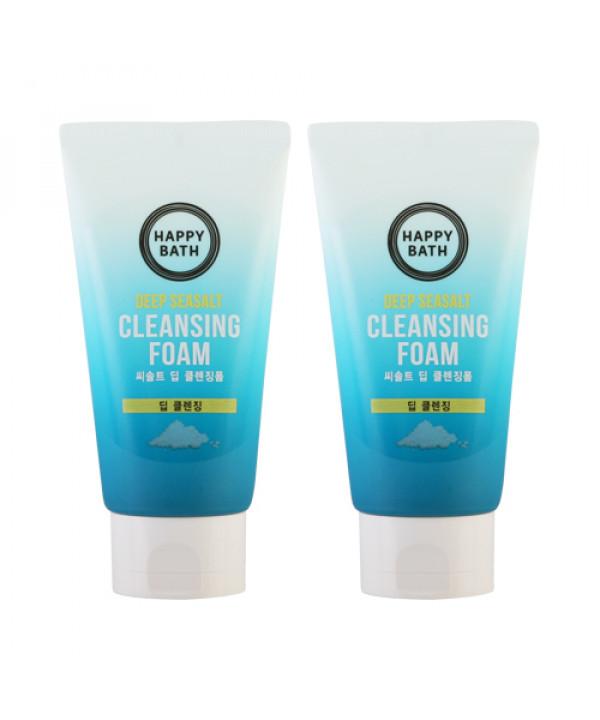 W-[HAPPY BATH] 1+1 Sea Salt Deep Cleansing Foam - 150g x 10ea