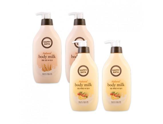 [HAPPY BATH] 1+1 Natural Body Milk - 450ml