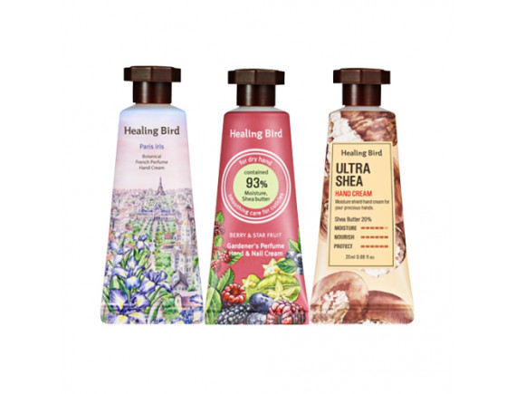 [Healing Bird] Healing Moment Hand Cream Miniature Set - 1pack (3items)