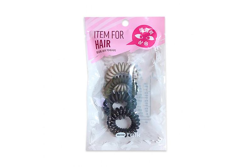 [HELLO TALK TOK] Spring Hair Band (2020) - 1pack (5pcs) No.Black Gradation