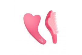 W-[HELLO TALK TOK] Heart Shape Hair Brush - 1pcs x 10ea