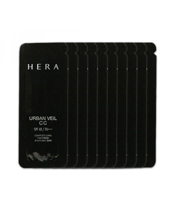 [HERA_Sample] Urban Veil CC Cream Samples - 10pcs (SPF40 PA+++) No.21 Natural Beige (EXP 2020.03.22)