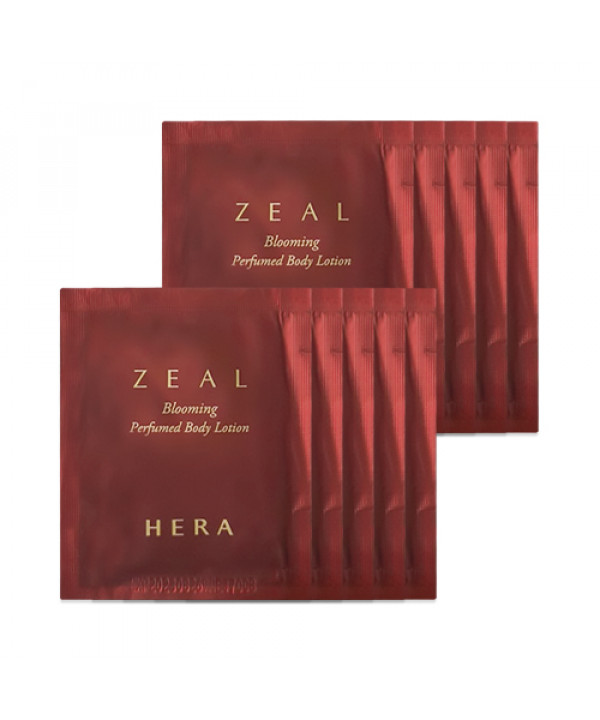[HERA_Sample] Zeal Blooming Perfumed Body Lotion Samples - 10pcs