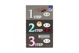 [Holika Holika] Pig Nose Clear Black Head 3 Step Kit (Strong) - 1pcs