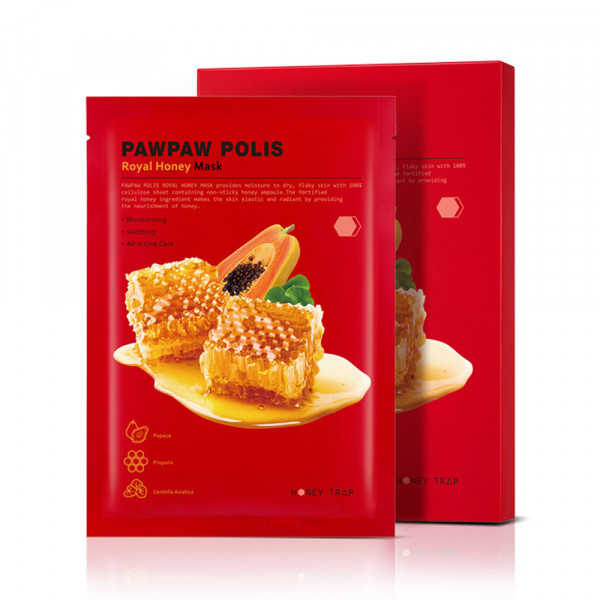 [HONEY TRAP] Pawpaw Polis Royal Honey Mask - 1pack (10pcs)