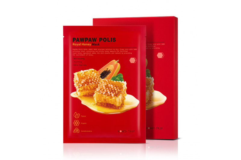 W-[HONEY TRAP] Pawpaw Polis Royal Honey Mask - 1pack (10pcs) x 10ea