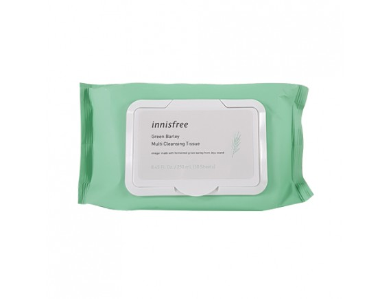 [INNISFREE] Green Barley Multi Cleansing Tissue (2019) -1pack (50pcs)