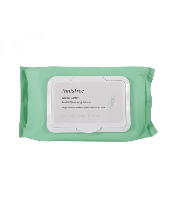 [INNISFREE] Green Barley Multi Cleansing Tissue (2019) -1pack (50pcs)