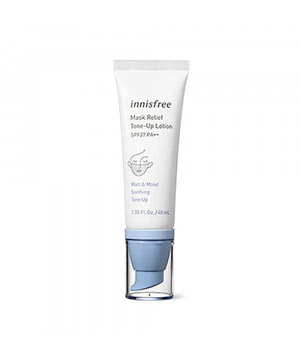 [INNISFREE] Mask Relief Tone Up Lotion - 40ml (SPF27 PA++)