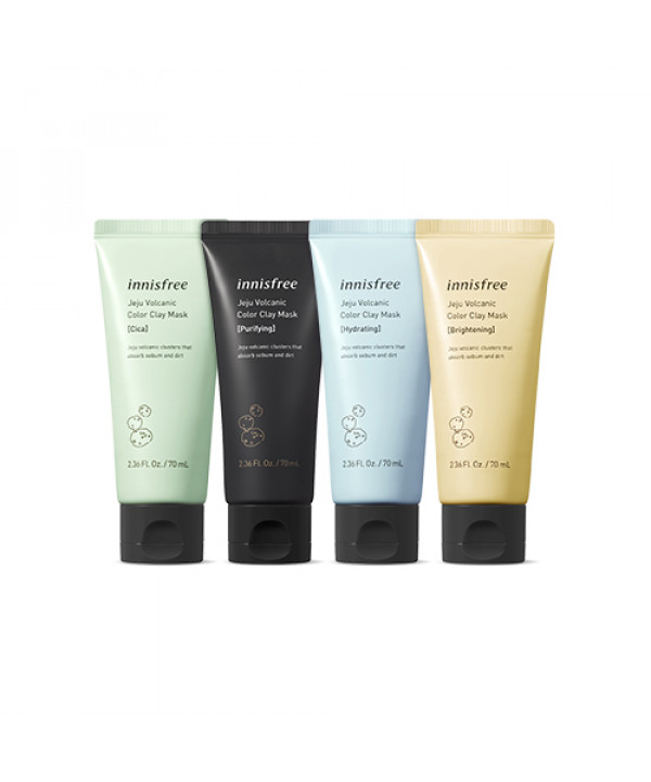 [INNISFREE_LIMITED] Jeju Volcanic Color Clay Mask (2019) - 70ml#Purifying(Flawed Box)