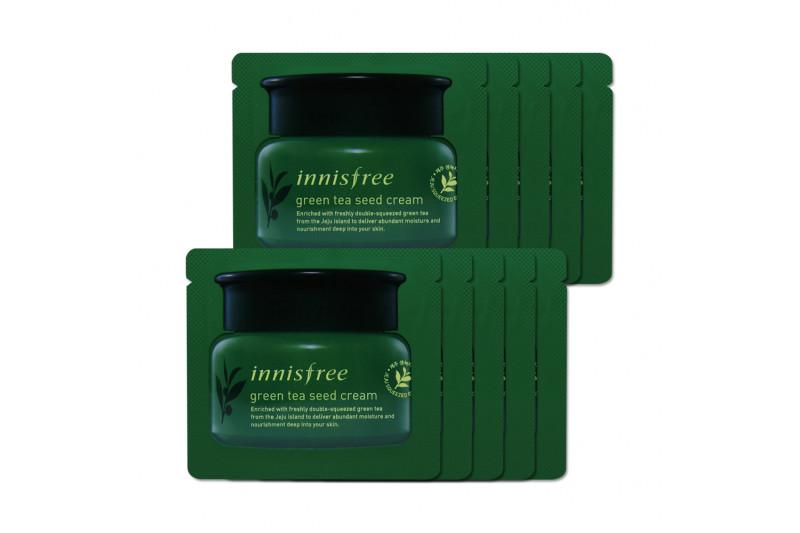 [INNISFREE_Sample] Green Tea Seed Cream Samples - 10pcs