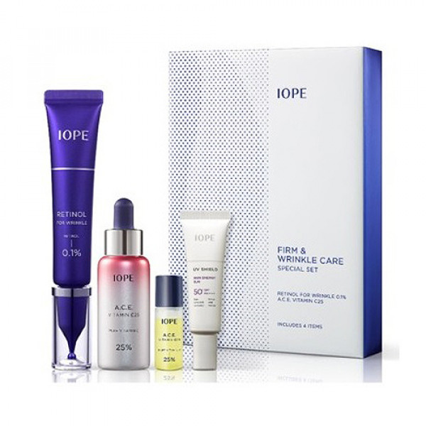 [IOPE] Firm And Wrinkle Care Special Set - 1pack (4items)