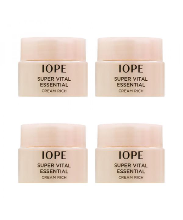 [IOPE_Sample] Super Vital Essential Cream Rich Samples - 5ml x 4ea
