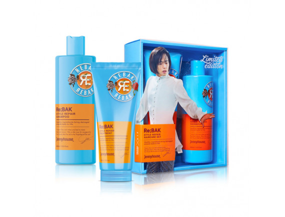 [JENNY HOUSE] Re Bak Style Repair Shampoo & Treatment Set - 1pack (2items)