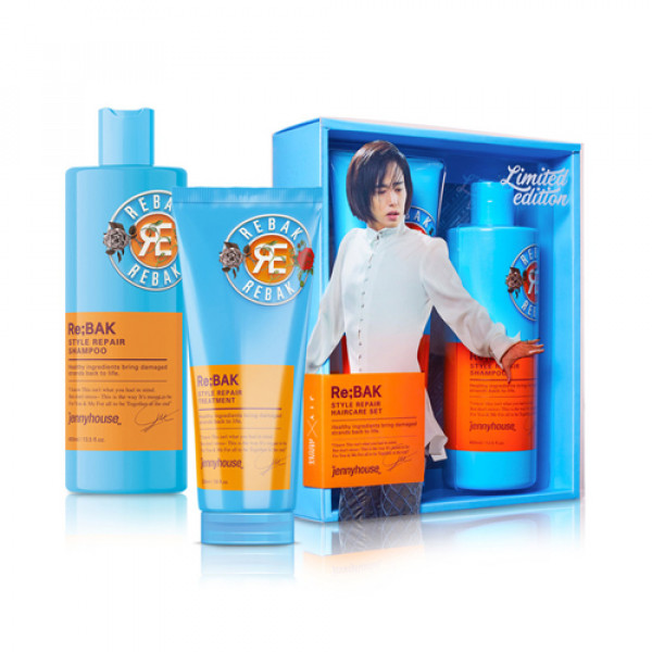[JENNY HOUSE] Re Bak Style Repair Shampoo & Treatment Set - 1pack (2items)