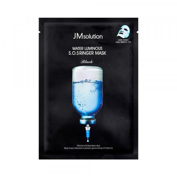 [JMsolution] Water Luminous S.O.S Ringer Mask Black - 1pack (10pcs)