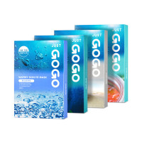 [JUST GOGO] Watery Skin Fit Mask - 1pack (10pcs)