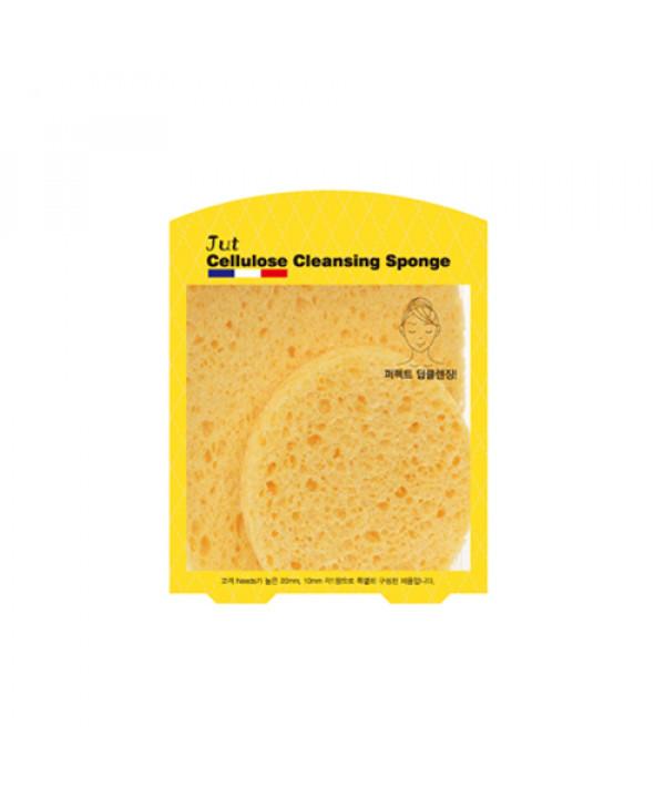 [JUT] Gold Cellulose Soft Facial Cleansing Sponge - 1pack (2pcs)