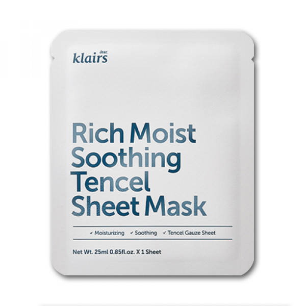 [Klairs] Rich Moist Soothing Tencel Sheet Mask - 1pcs
