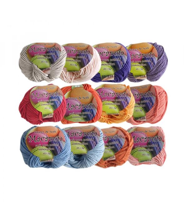 [KNIT] Soft Pure Cotton Macaron Yarn (Part 4) - 1pcs