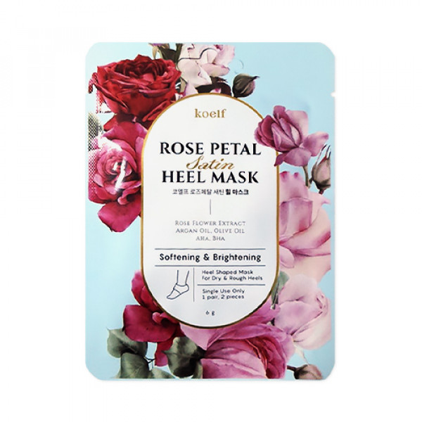 [KOELF] Rose Petal Satin Heel Mask - 1pack (1use)