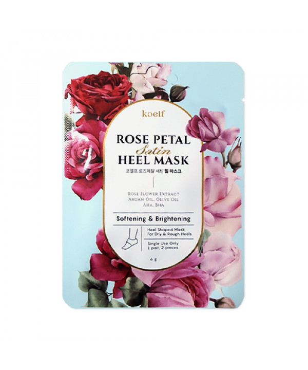 [KOELF] Rose Petal Satin Heel Mask - 1pack (1use)