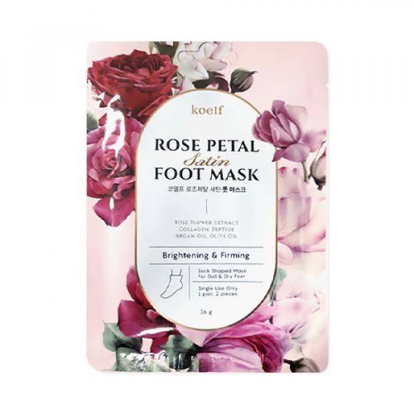 [KOELF] Rose Petal Satin Foot Mask - 1pack (1use) x 3