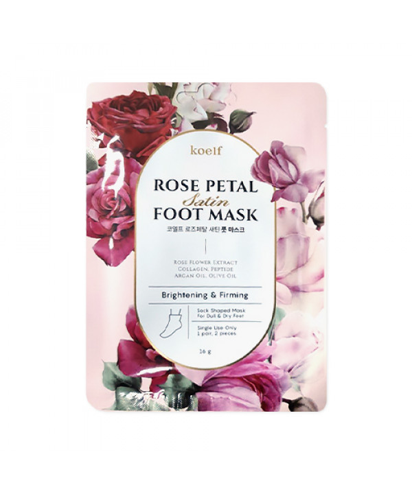 [KOELF] Rose Petal Satin Foot Mask - 1pack (1use)