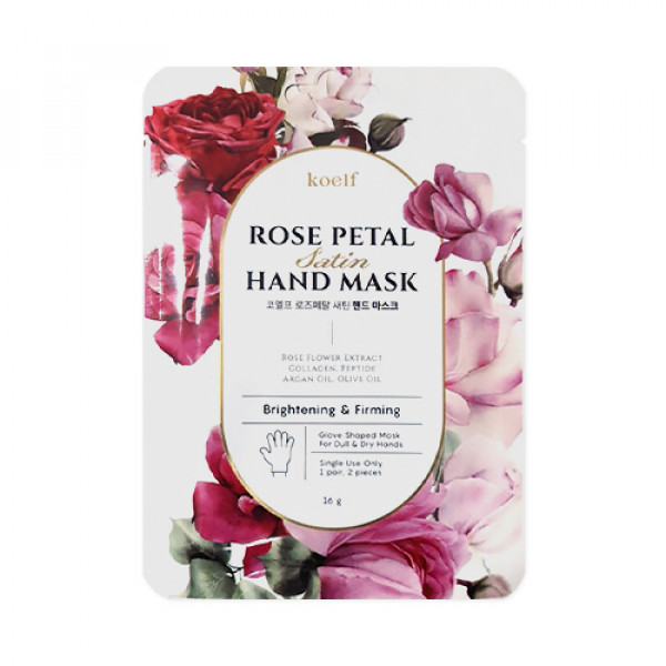[KOELF] Rose Petal Satin Hand Mask - 1pack (1use)