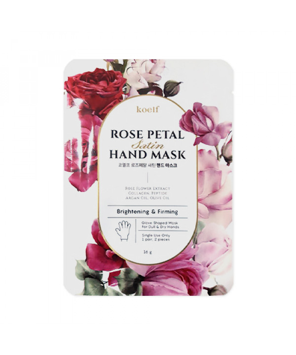 [KOELF] Rose Petal Satin Hand Mask - 1pack (1use)