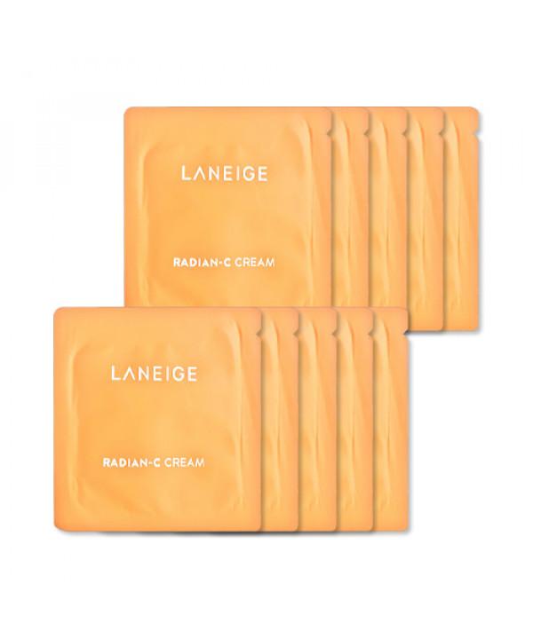 [LANEIGE_Sample] Radian C Cream Samples - 10pcs