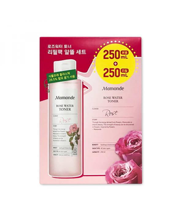 [Mamonde] Rose Water Toner Set (Bottle 250ml + Refill 250ml) - 1pack (2items)