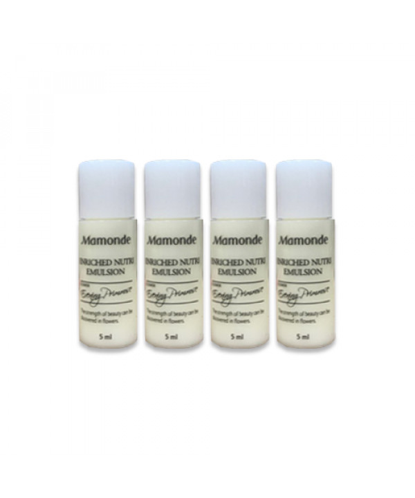 [Mamonde_Sample] Enriched Nutri Emulsion Samples - 5ml x 4ea