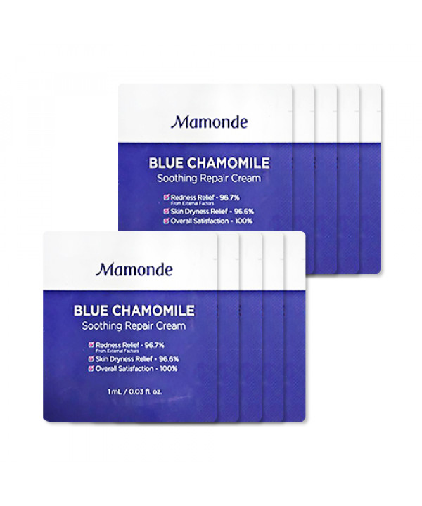 [Mamonde_Sample] Blue Chamomile Soothing Repair Cream Samples - 10pcs