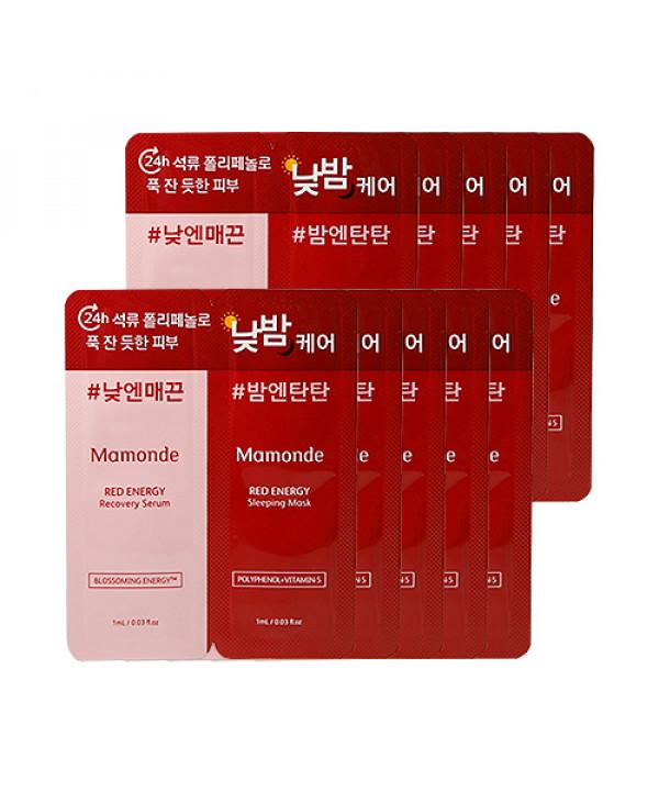 [Mamonde_Sample] Red Energy Recovery Serum & Sleeping Mask Samples - 10pcs