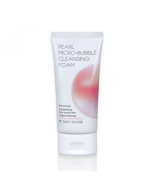 [MAY ISLAND_LIMITED] Pearl Micro Bubble Cleansing Foam - 120ml (EXP 2022-03-08)