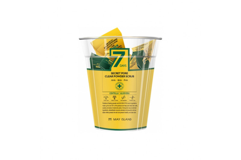[MAY ISLAND] 7 Days Secret Pore Clear Powder Scrub - 1pack (5g x 12pcs)