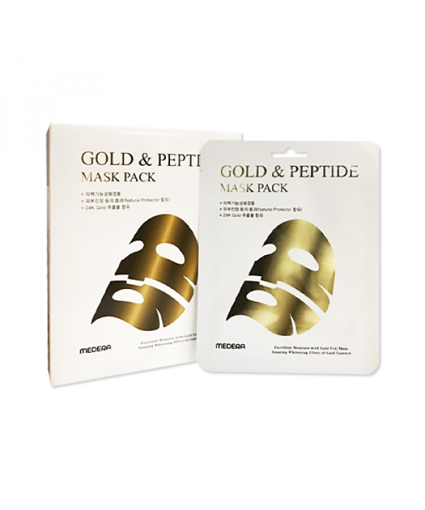 [MEDERA] Gold And Peptide Foil Mask (2020) - 1pack (10pcs)