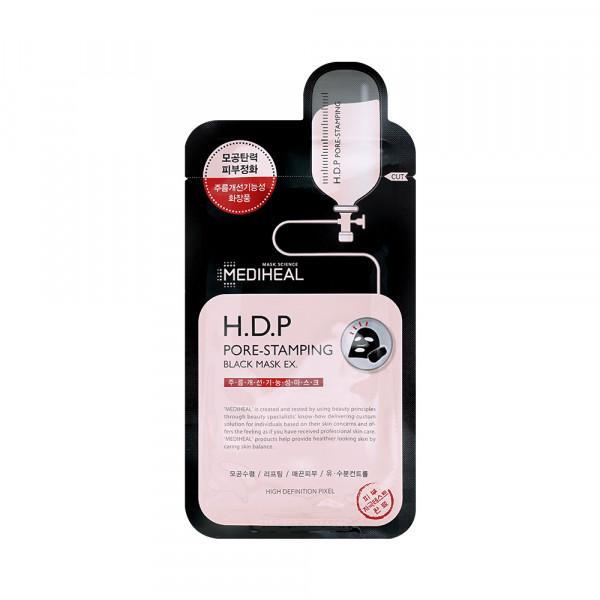 [MEDIHEAL] H.D.P Pore Stamping Black Mask EX. - 1pack (10pcs)