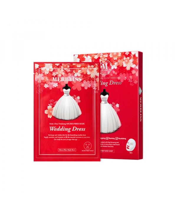 [MERBLISS] Wedding Dress Mask - 1pack (5pcs) No.Ruby Ultra Vitalizing