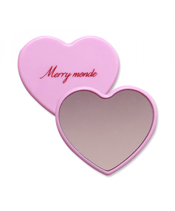 [Merry monde] Love Crush Mini Heart Mirror - 1pcs
