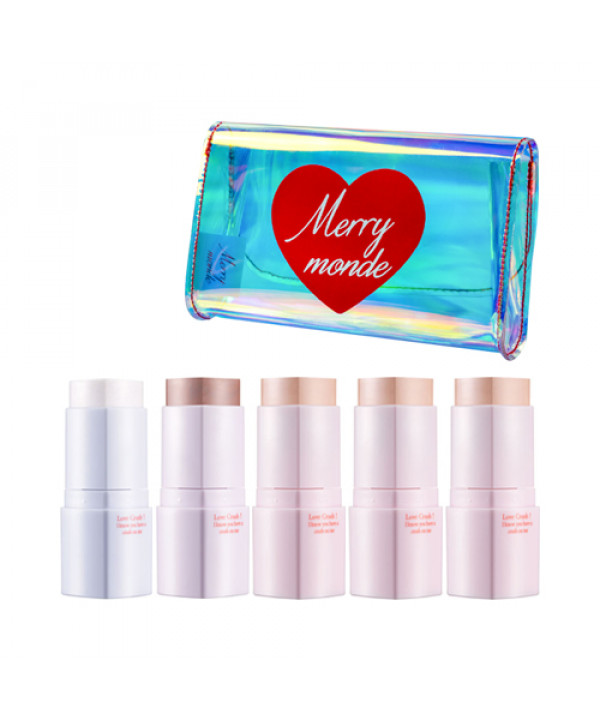 [Merry monde] Love Crush Heart Stick Pouch Set - 1pack (5items)