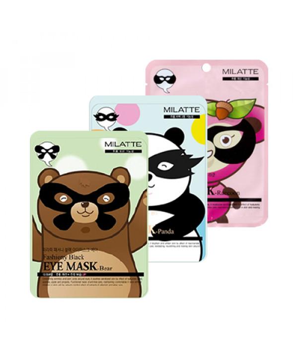 [MILATTE] Fashiony Black Eye Mask - 1pack(10pcs)