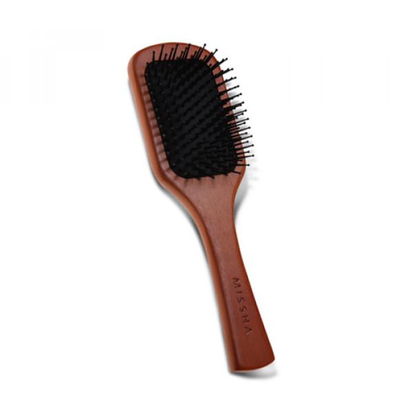 W-[MISSHA] Wooden Cushion Hair Brush (M) - 1pcs x 10ea