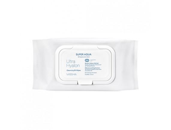 [MISSHA] Super Aqua Ultra Hyalron Cleansing Oil Wipes (Jumbo Size) - 1pack (70pcs)