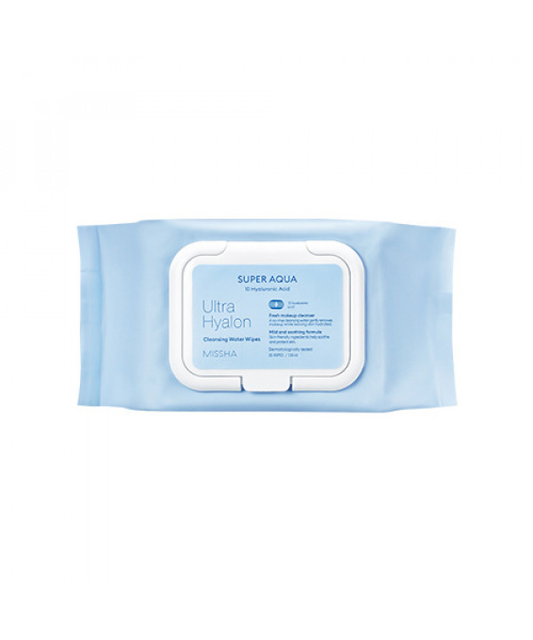 [MISSHA] Super Aqua Ultra Hyalron Cleansing Water Wipes - 1pack (30pcs)