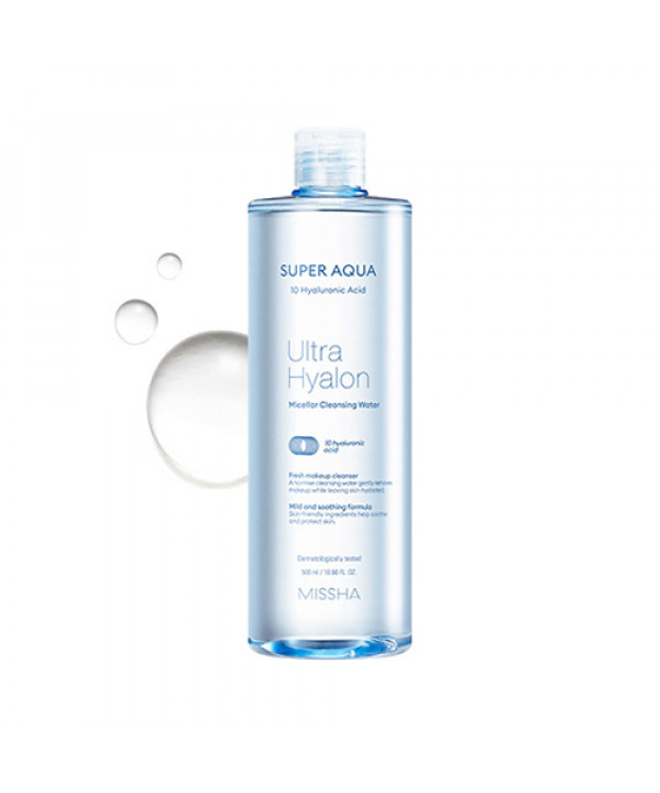 [MISSHA] Super Aqua Ultra Hyalon Micellar Cleansing Water - 500ml