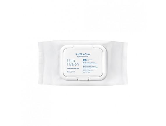 [MISSHA] Super Aqua Ultra Hyalron Cleansing Oil Wipes - 1pack (30pcs)
