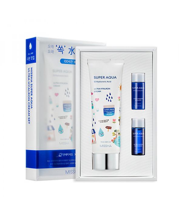 [MISSHA] Super Aqua Ultra Hyalron Cream Jumbo Set - 1pack (3items)